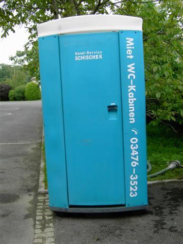 Miet-WC-Häuschen